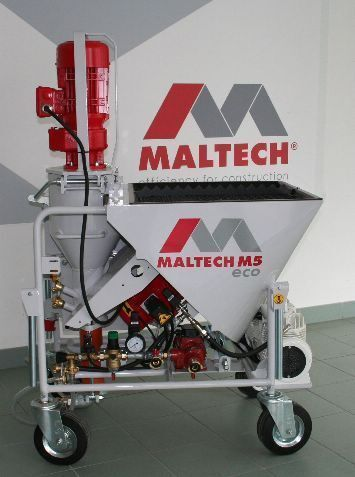 Maltech M5 Eco plastering machine