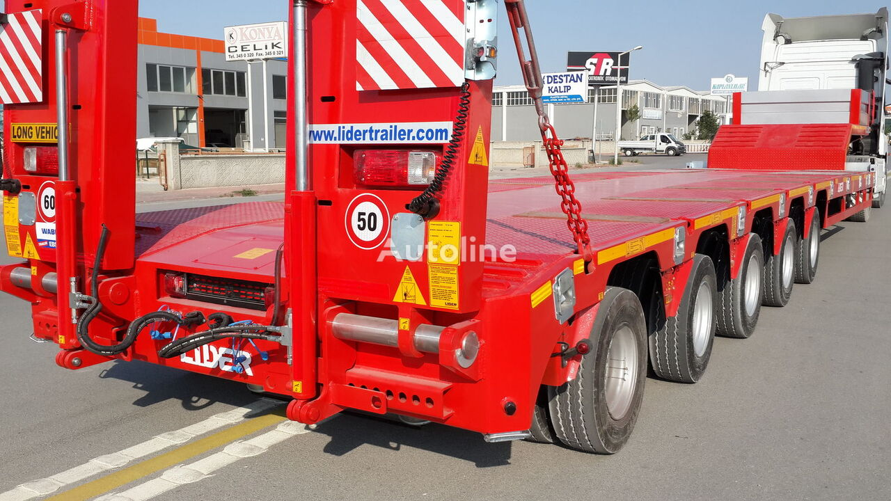 new LIDER 2018 Year new directly from manufacturer READY IN STOCK low bed semi-trailer