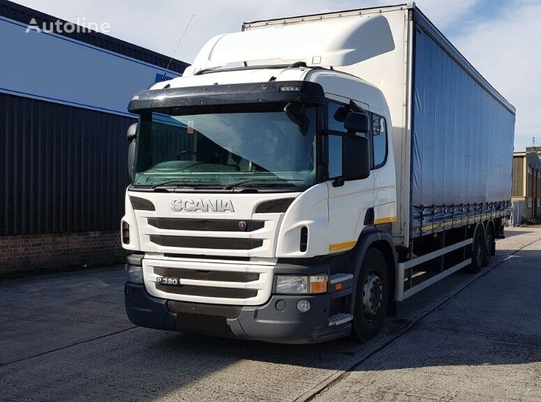 SCANIA P320 curtainsider truck