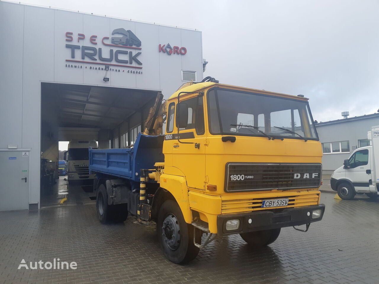 DAF 1800, FULL STELL ,TIPPER WITH CRANE  ,4X4 dump truck