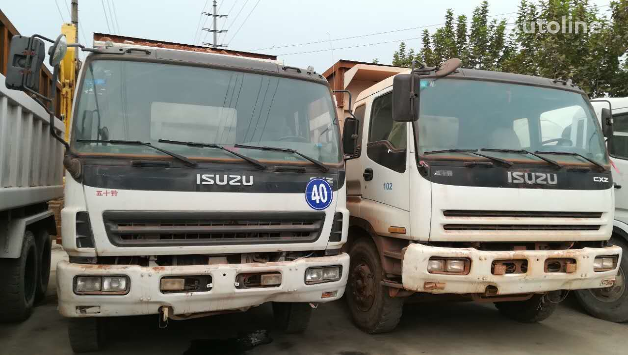 ISUZU 2x8  10 tires  cheap for sale dump truck