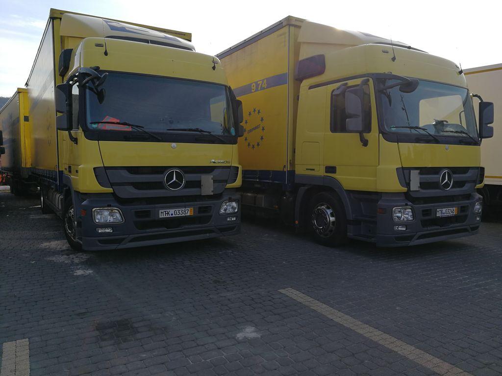 MERCEDES-BENZ ACTROS 1836L JUMBO EEV TANDEM BDF 120M3 GERMAN TRUCK truck curtainsider + curtain side trailer
